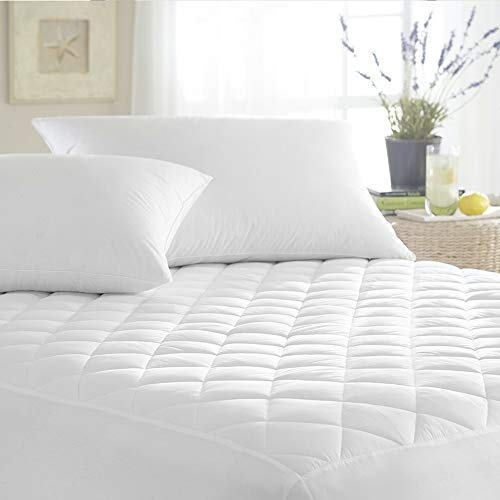 Vekkia Mattress Pad Cover with Deep Pocket (8'-21'), Soft Cotton Surface,...
