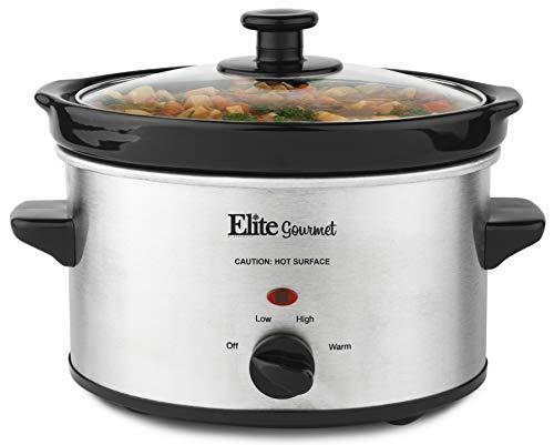 Elite Gourmet MST-275XS Electric Slow Cooker, Adjustable Temp, Entrees,...