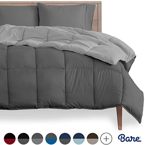 Bare Home Reversible Comforter - Twin/Twin Extra Long - Goose Down...