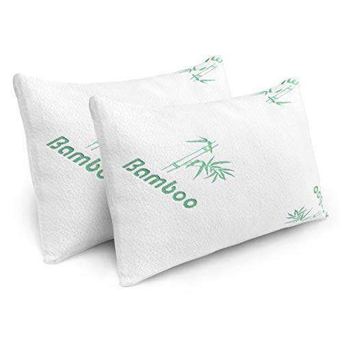 Pillows for Sleeping - 2 Pack Cooling Shredded Memory Foam Bed Pillows with...