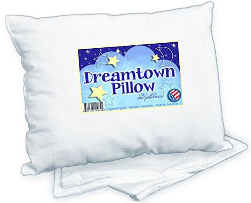 Dreamtown Kids Toddler Pillow with Pillowcase 14x19 White. Chiropractor...