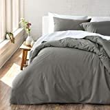 Welhome Cozy 100% Cotton Percale Washed Reversible Duvet Cover Set |...