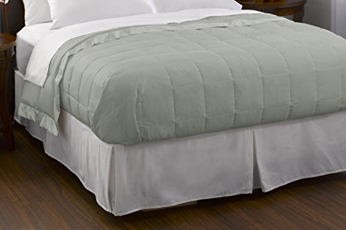 Pacific Coast Feather Down Blanket Cotton Cover with Satin Border,...