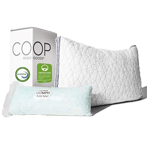 Coop Home Goods - Eden Adjustable Pillow - Hypoallergenic Shredded Memory...