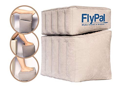 Flypal Inflatable Foot Rest for Travel, Home and Office and Blow-Up Pillow...