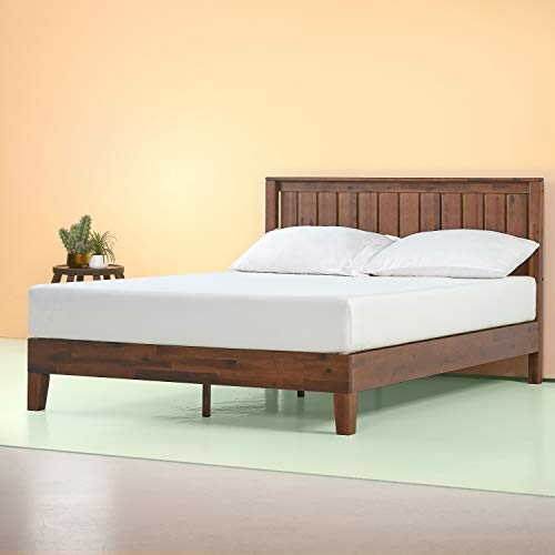 Zinus Vivek 12 Inch Deluxe Wood Platform Bed with Headboard / No Box Spring...