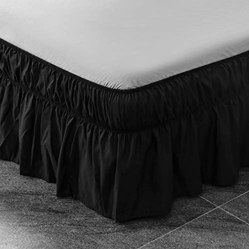 AYASW Bed Skirt 13-14 Inch Drop Dust Ruffle Three Fabric Sides Wrap Around...