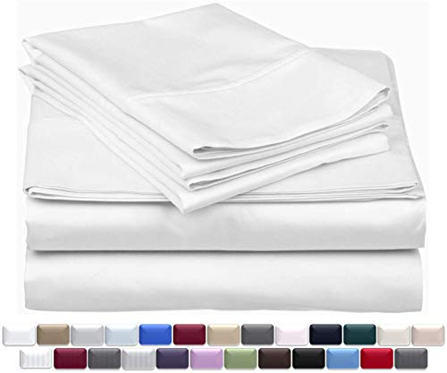 True Luxury 1000-Thread-Count 100% Egyptian Cotton Bed Sheets, 4-Pc Queen...