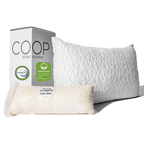 Coop Home Goods - Premium Adjustable Loft Pillow - Hypoallergenic Cross-Cut...