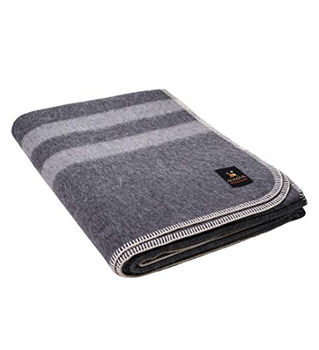 Thick Alpaca Wool Blanket – Heavyweight Alpaca Wool Blanket for Camping...