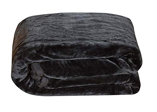 Chezmoi Collection Heavy Thick One Ply Korean Style Faux Mink Blanket...