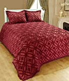Saral Home Fashions Luxury 3pc Bohemian Bedspread Set 100% Cotton Chenille...