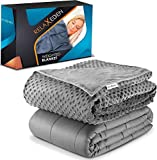 RELAX EDEN Adult Weighted Blanket W/Removable, Washable Duvet Cover| 15...