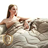 YEMYHOM 100% Cotton Weighted Blanket Adult Bed Heavy Blankets with Glass...