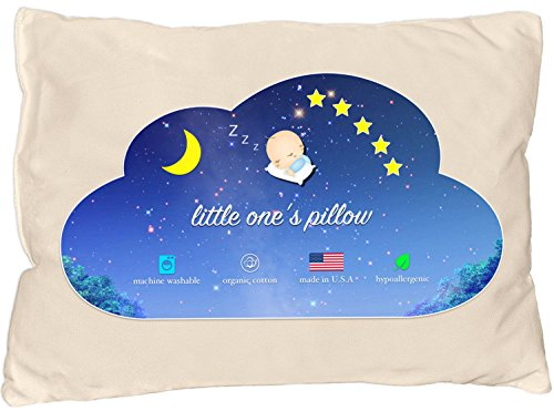 Little One's Pillow - Toddler Pillow, Organic Cotton Shell, HandCrafted in...