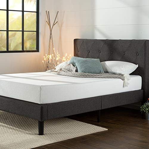 Zinus Shalini Upholstered Platform Bed / Mattress Foundation / Wood Slat...