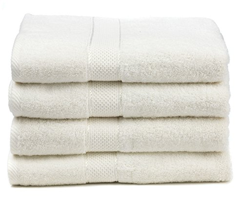 Ariv Collection Premium Bamboo Cotton Bath Towels - Natural, Ultra...