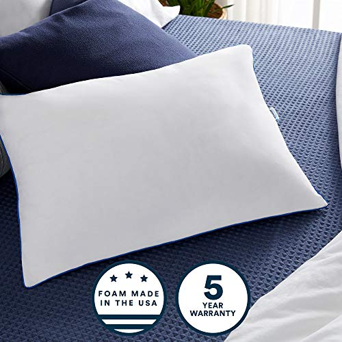 Sleep Innovations 2-in-1 Ventilated Gel Memory Foam King Pillow with Down...