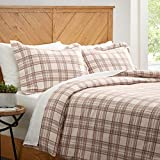Amazon Brand – Stone & Beam Rustic Plaid Flannel Duvet Cover Set, Full /...