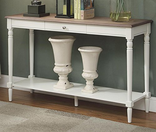 Convenience Concepts French Country Console Table with Drawer and Shelf,...