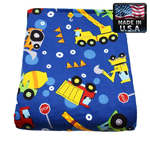 Melissa's Weighted Blankets Made in The USA (5lbs Child Size) Navy 10...