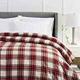 Pinzon Plaid Flannel Duvet Cover - Full or Queen, Brown Plaid