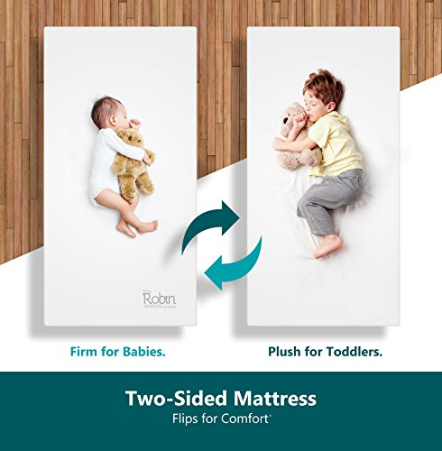 Moonlight Slumber Breathable Dual Sided Baby Crib Mattress. Firm Sided for...