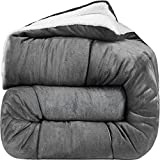 Utopia Bedding - All Season Alternative Fleece Comforter - Down Sherpa...