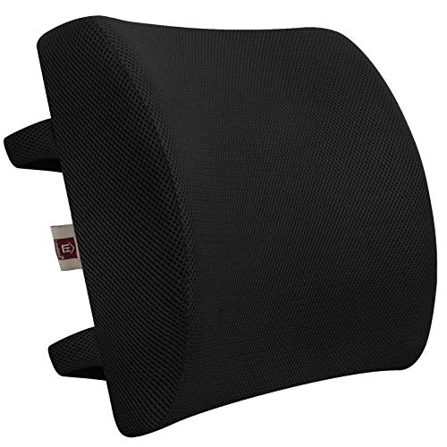LOVEHOME Memory Foam Lumbar Support Back Cushion with 3D Mesh Cover...
