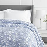 Pinzon 170 Gram Flannel Cotton Duvet Cover, Full / Queen, Navy Paisley