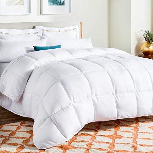 Linenspa All-Season White Down Alternative Quilted Comforter - Corner Duvet...