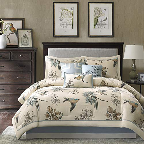 Madison Park Cozy Comforter Nature Scenery Design All Season, Matching Bed...