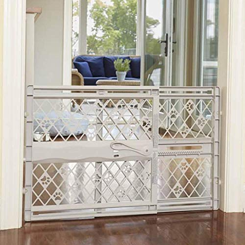 North States MyPet Paws 40' Portable Pet Gate: Expands & locks In place...