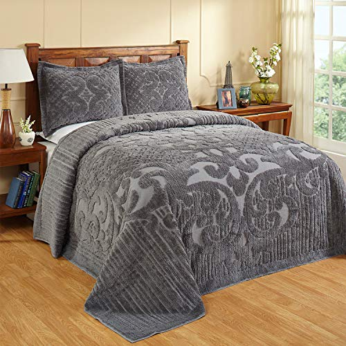 Better Trends Ashton Collection in Medallion Design 100% Cotton Tufted...