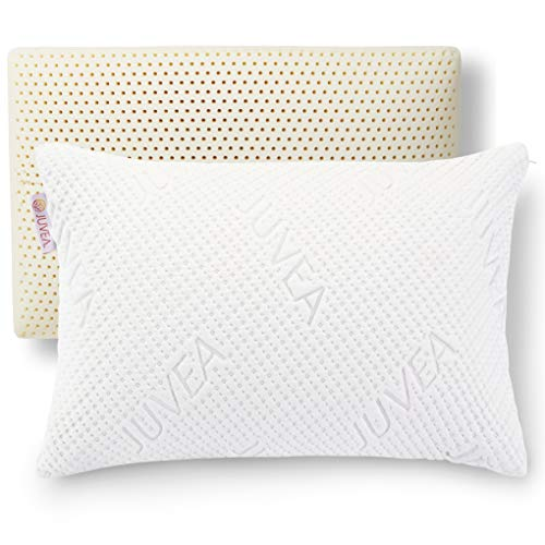 JUVEA Pillow Talalay Latex Pillow - High Loft Latex Foam Pillow with...