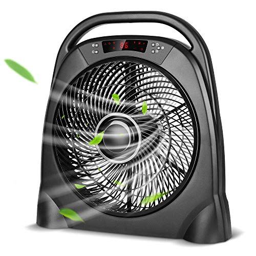 TRUSTECH Remote Table Fan - Portable Floor Fan with 3 Speeds & Automatic...