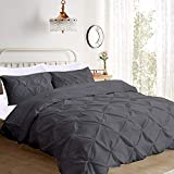 Pinch Pleated 3 Piece Duvet Cover Set 100% Egyptian Cotton 1000 Thread...