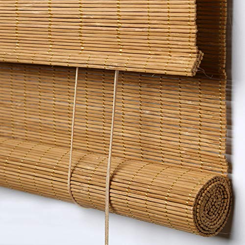 PASSENGER PIGEON Bamboo Roller Shades, Light Filtering Roll Up Blinds with...