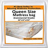 Mattress Bags for Moving Queen -Mattress Storage Bag - 5 Mil Heavy-Duty -...