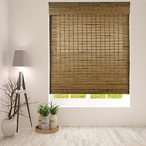 Arlo Blinds Cordless Petite Rustique Bamboo Roman Shades Blinds - Size: 19'...
