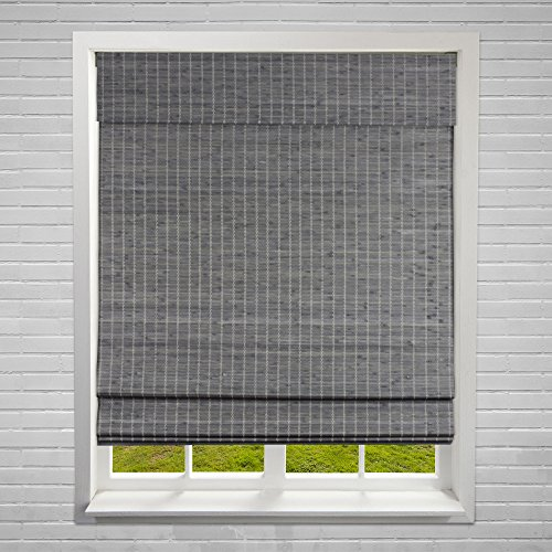 Calyx Interiors A04CBP340600 Cordless Bamboo Blind, 34' W X 60' H, Privacy...