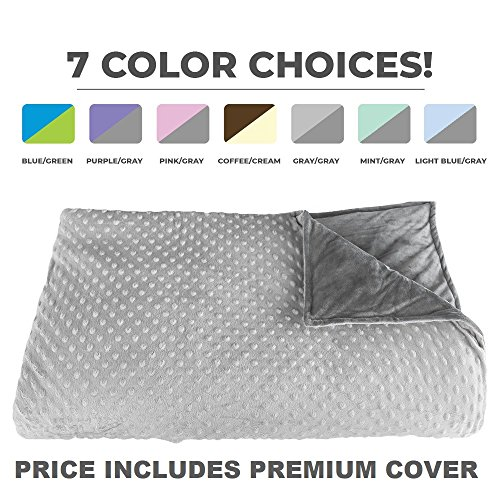 Premium Weighted Blanket, Perfect Size 60' x 80' and Weight (12lb) for...