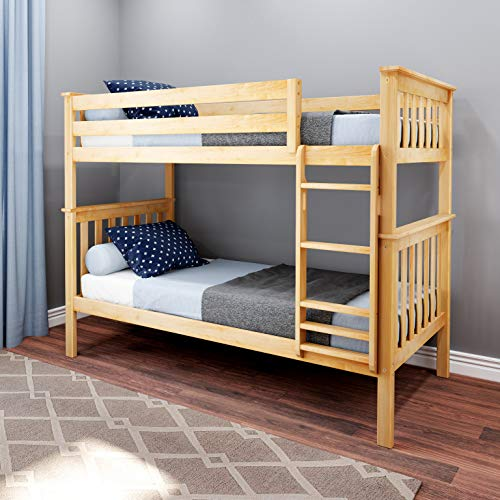 Max & Lily Bunk Bed, Twin, Natural