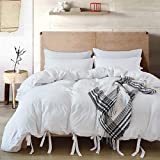 annadaif Giveuwant White Duvet Cover Queen(90x90 Inch),3 Pieces(1 Duvet...