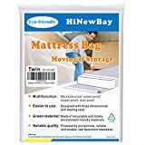 HiNewBay Twin Mattress Bags for Moving,6Mil Heavy Duty Triple Thick...