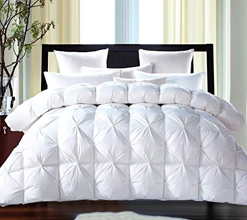 ROSECOSE Luxurious Goose Down Comforter King Size Duvet Insert Pinch Pleat...