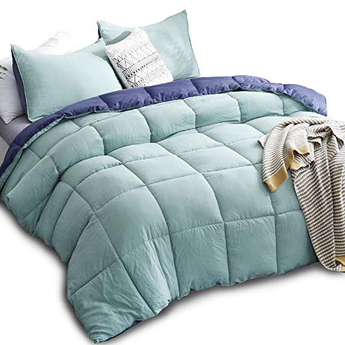 KASENTEX All Season Down Alternative Quilted Comforter Set Reversible Ultra...