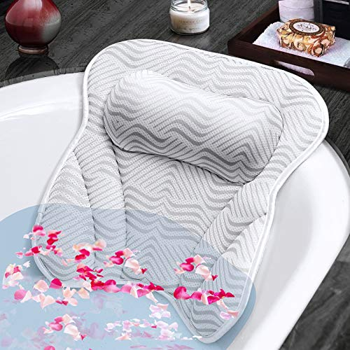 Susisal Bath Pillow for Tub, Bathtub Pillow with Neck Shoulder Back...