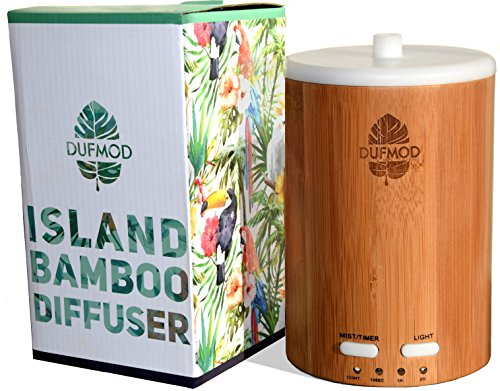 dufmod 150ml Real Bamboo Wood Diffuser for Essential Oils, Cool Mist...