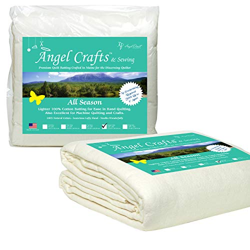 Angel Crafts and Sewing Cotton Batting for Quilts: Purely Natural All...